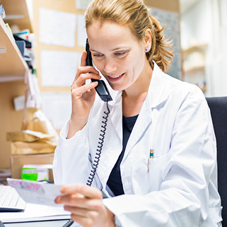 pharmacist_woman_phone_Floating